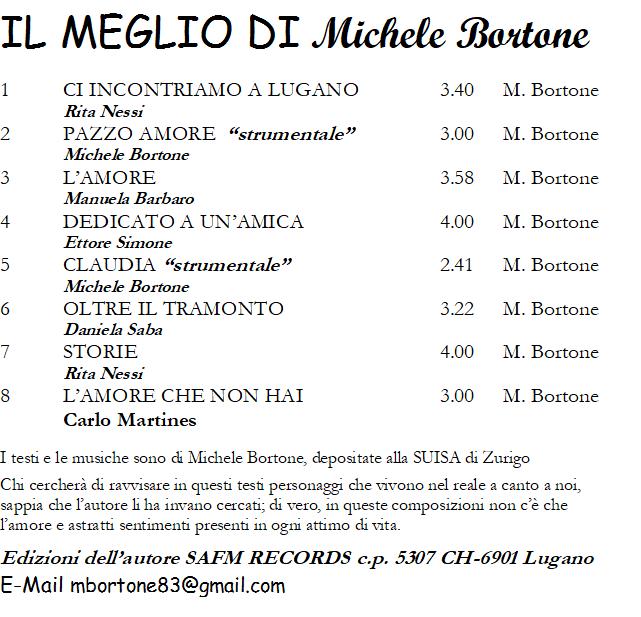 IL MEGLIO DI MICHELE BORTONE